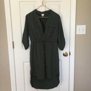 Merona/Target olive green high low dress